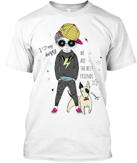 I Love My Doggy  Best Dog Tee White T-Shirt Front