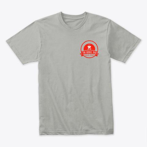 The Rural Dad Logo Tee Light Grey T-Shirt Front