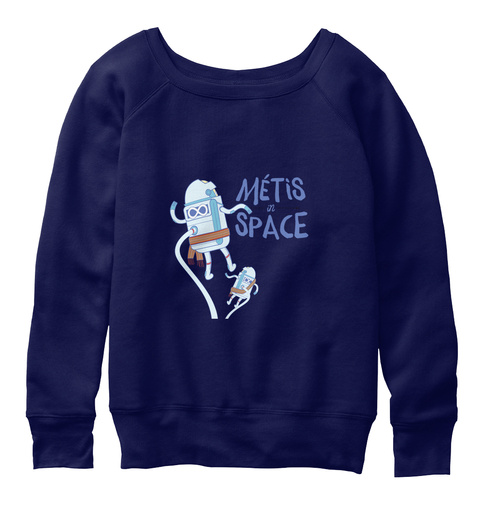 Méti S In Space Navy  T-Shirt Front