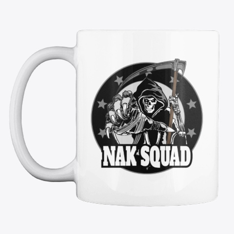 Nak Squad Logo Mug White T-Shirt Front