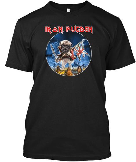 Iron Pugden Black T-Shirt Front