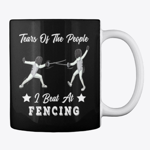Fencing Lover Gift, Tears Of People Black T-Shirt Back