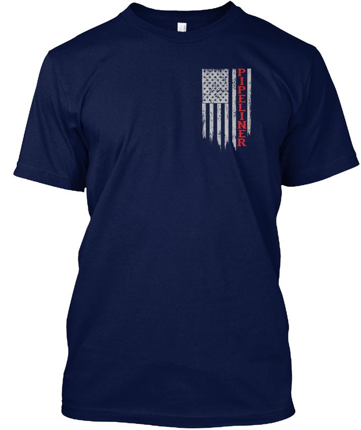 American-Pipeliner-Flag-Hanes-Tagless-Tee-T-Shirt thumbnail 10