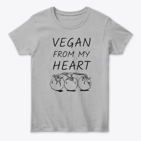 Vegan From My Heart Tomatoes Sport Grey T-Shirt Front