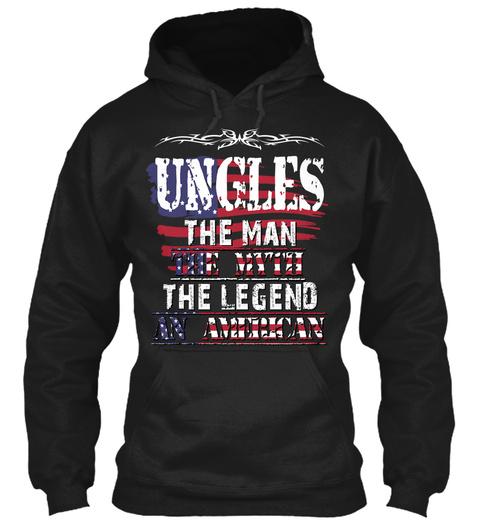 Ungles  Black T-Shirt Front