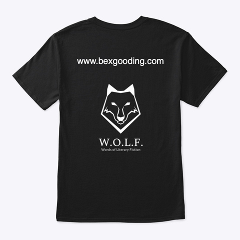 W.O.L.F. Monocrome Black T-Shirt Back