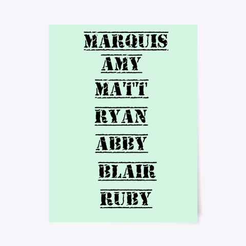 Marquis Poster Mint T-Shirt Front