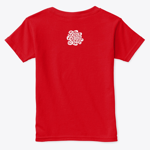 Memphis Tee Red  T-Shirt Back