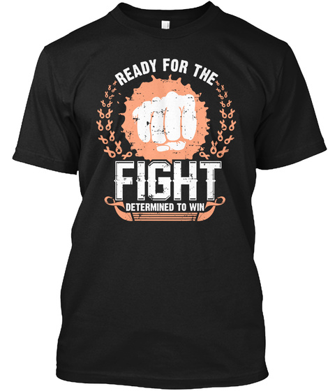 Ready For Fight To Endometrial Cancer Black T-Shirt Front