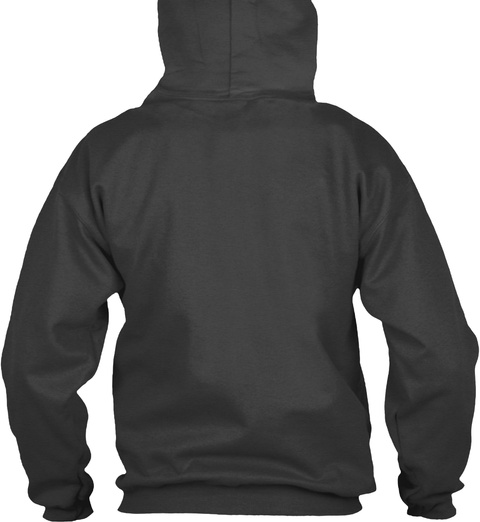 Impeachara®   Pullover Hoodie Dark Grey Heather Sweatshirt Back
