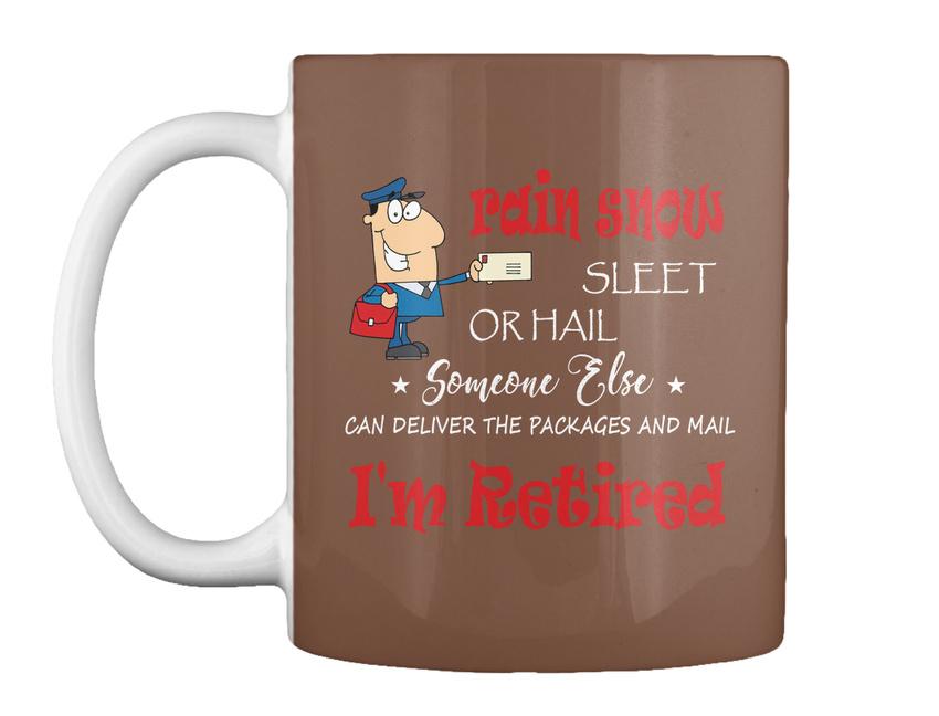 miniature 65 - Funny Retired Postal Worker Mailman Tee - Rain Suck Sleet Or Gift Coffee Mug