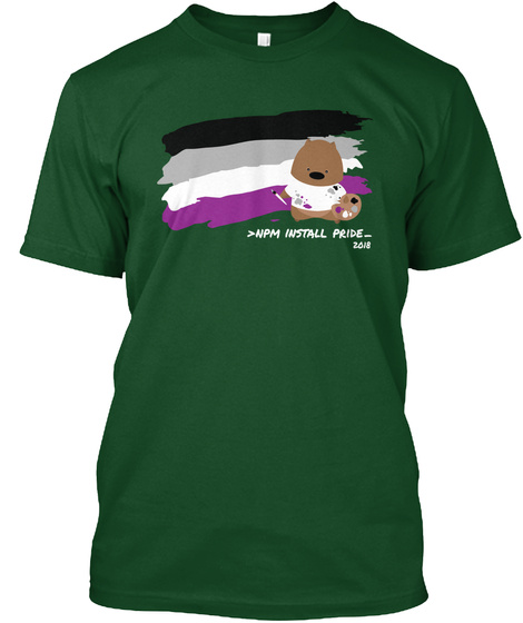 >Npm Install Pride  2018 Deep Forest T-Shirt Front