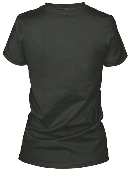 Listening? Ladies V Kneck And Slouchy T Black T-Shirt Back