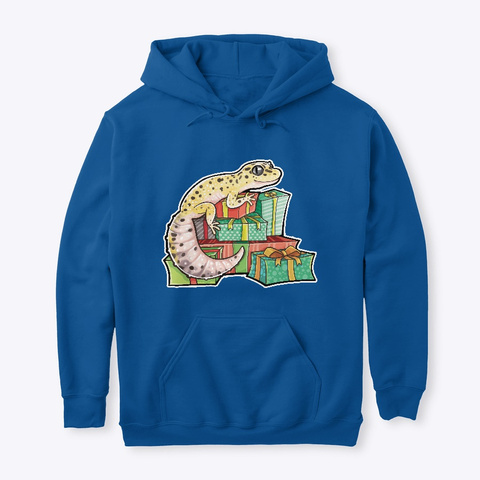 Gecko Hoarding Gifts Royal T-Shirt Front