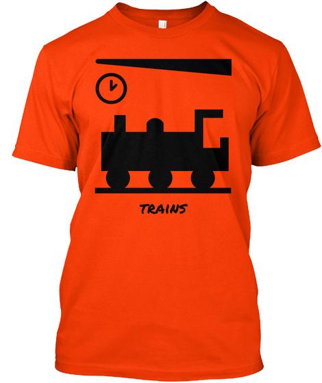 Trains Orange T-Shirt Front