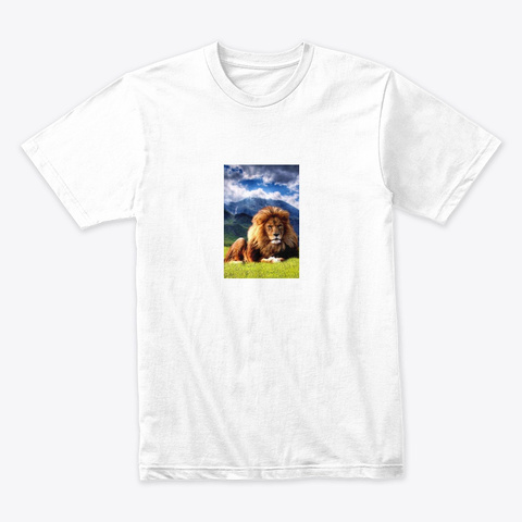 Tiger Of The Heart  White T-Shirt Front