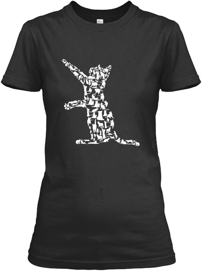 Cat Of Cats Black Women's T-Shirt Front