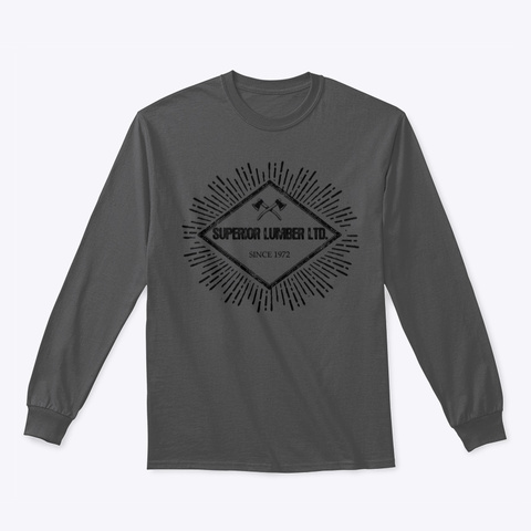 Simple Axe Design Charcoal T-Shirt Front