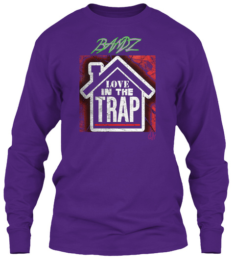 Bandz Purple Long Sleeve T-Shirt Front