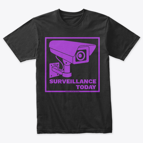 Surveillance Today Store Vintage Black T-Shirt Front