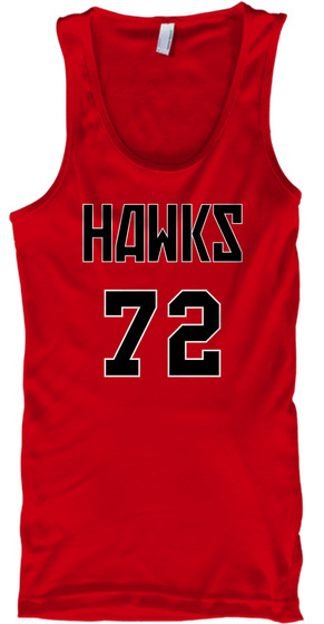Hawks 72 Red T-Shirt Front