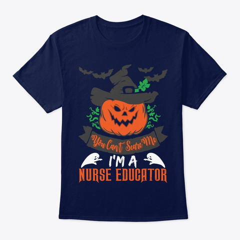Nurse You Can't Scare Me Navy T-Shirt Front