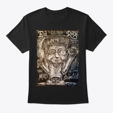 Help Dan O The Mad Scientist Black T-Shirt Front