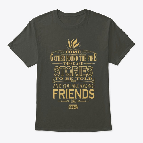 There Are Stories To Be Told Smoke Gray T-Shirt Front
