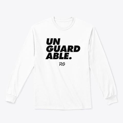 Unguardable   White Long Sleeve White T-Shirt Front