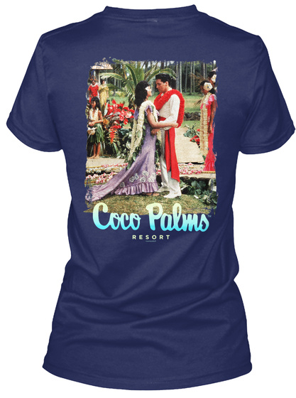 Coco Palms Resort Navy T-Shirt Back