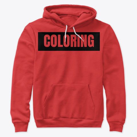 Mister 'coloring' Box Logo | Black Red T-Shirt Front