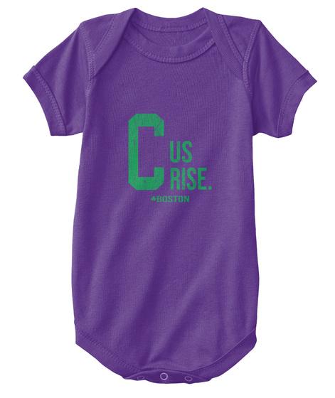 C Us Rise T Shirt Boston Basketball Tees Purple T-Shirt Front