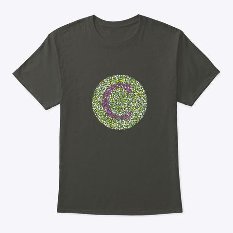 """C"" Eye Test Letter Circle Smoke Gray T-Shirt Front"