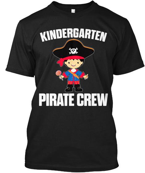 Kindergarten Pirate Crew Black T-Shirt Front