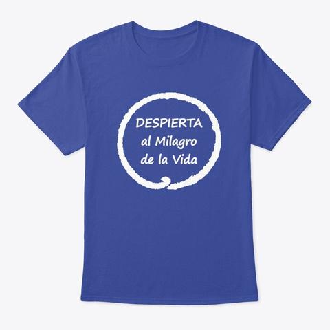 Ropa Consciente Meditación Y Mindfulness Deep Royal T-Shirt Front