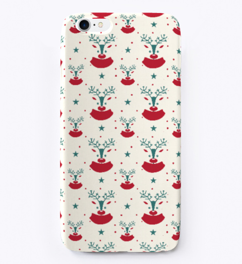 Christmas Pattern I Phone Case Black T-Shirt Front