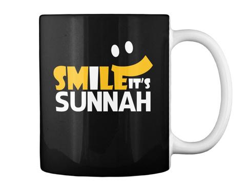 Smile It's Sunnah Mugs Black Mug Back