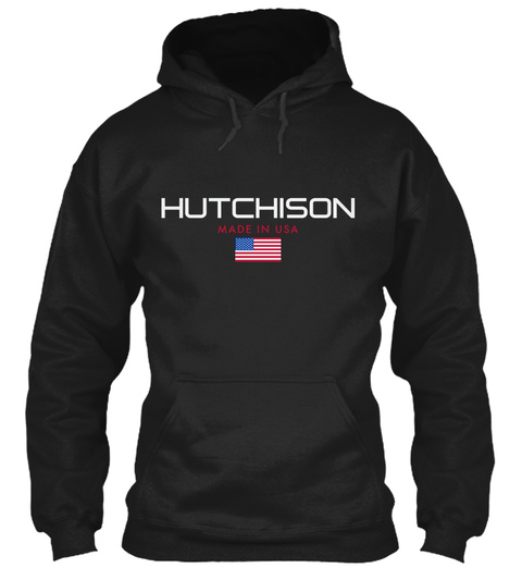 Hutchison Made In Usa Black T-Shirt Front