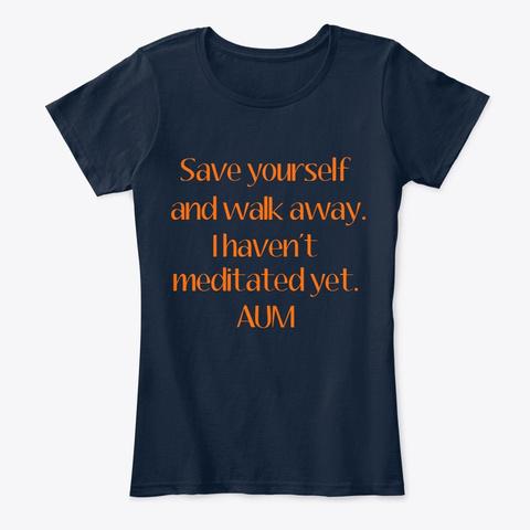 Meditative Intervention New Navy T-Shirt Front