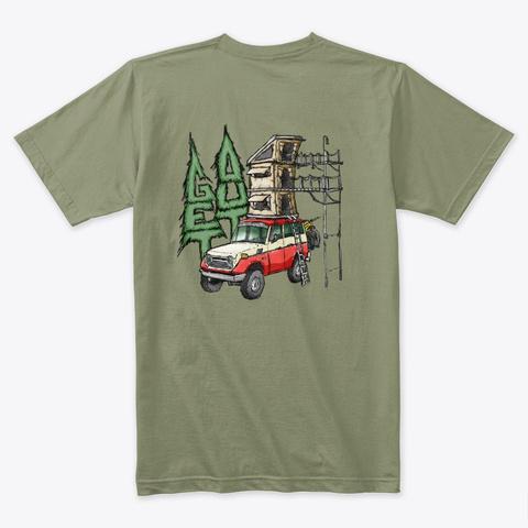 Get Out #4 Light Olive T-Shirt Back
