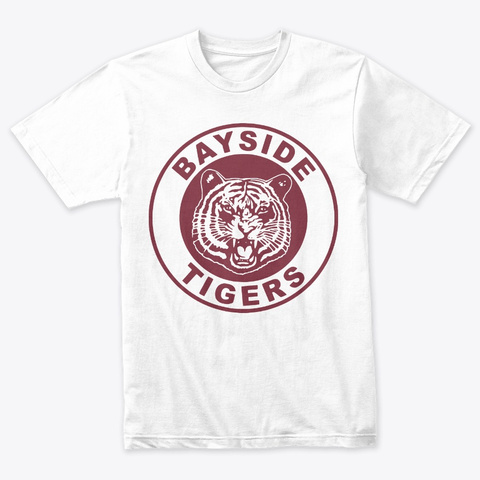 Bayside Tigers Heather White T-Shirt Front