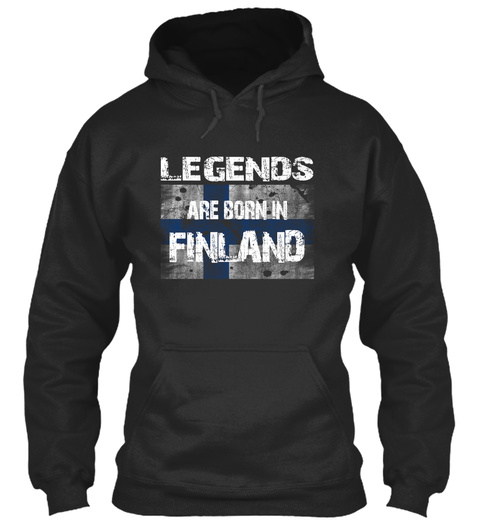 Legends Are Born In Finland Jet Black T-Shirt Front