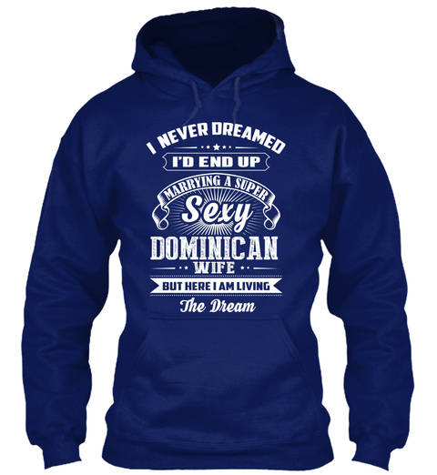 Dominican Sexy  03 E Oxford Navy T-Shirt Front