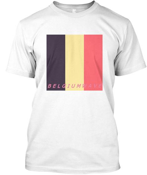 Belgiumwave White T-Shirt Front