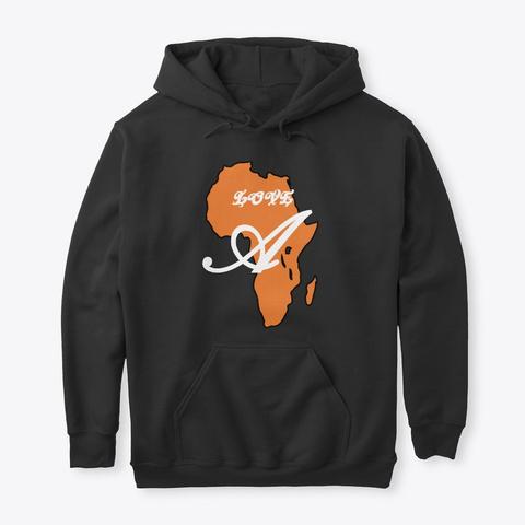 Love Africa Black T-Shirt Front
