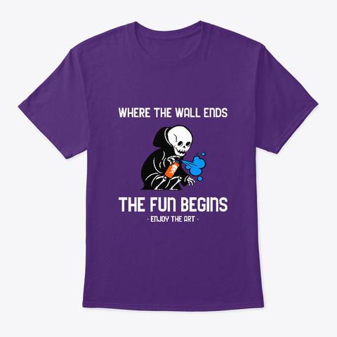 Streetwear   Enjoy The Road  Of Art Tee Purple T-Shirt Front