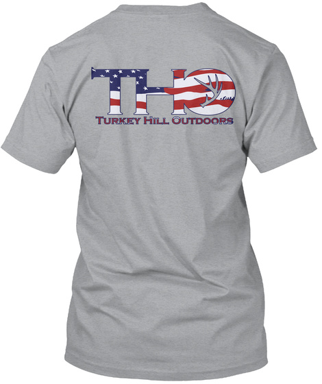 Tho Turkey Hill Outdoors Heather Grey T-Shirt Back