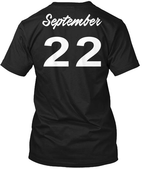 September 22   Virgo Black T-Shirt Back