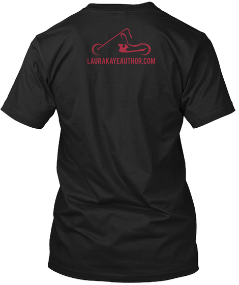 Laurakayeauthor.Com Black T-Shirt Back