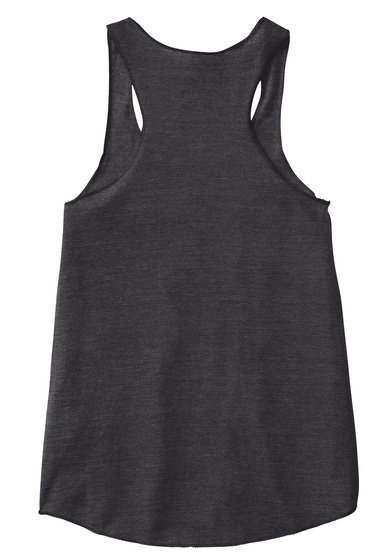 Adventurer White Racer Back  Eco Black Women's Tank Top Back